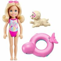 Barbie FCJ28 Dolphin Magic Chelsea Doll with Puppy and Float Bath Toy