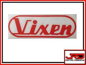 Old Vixen Vinyl Logo Sticker in Red