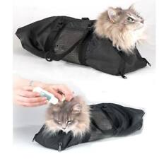 Pet Cats Nail Clipping Cleaning Black Cat Grooming Bag Portable Restraint Bag