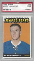 1965 Topps hockey card #84 Peter Stemkowski Toronto Maple Leafs graded PSA 7