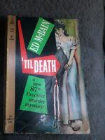 Ed McBain, Evan Hunter / 'TIL DEATH 1960 First paperback edition.1st Print
