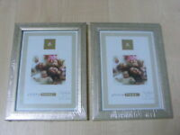 "2 x 5 x 7 "" SILVER WOOD WOODEN PICTURE PHOTO FRAMES NEW"