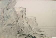 ENGLAND DOVER CLIFFS (2) PENCIL/WASH  JOHN WILSON 1860