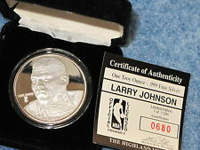 Larry Johnson 1 Troy Ounce .999 fine Silver Sport Round Highland Mint B7815