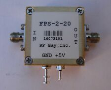 Frequency Divider 0.1-20GHz Div 2, FPS-2-20, New, SMA