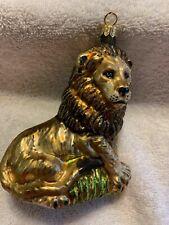 Vintage Poland Slavic Treasures Lion Glass Christmas Ornament