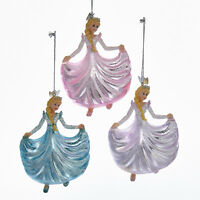 NB1117 Noble Gems Princess Fairy Tale Fantasy Glass Glitter Christmas Ornaments
