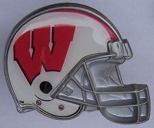 Trailer Hitch Cover Ncaa Wisconsin Badgers New Metal Football Helmet