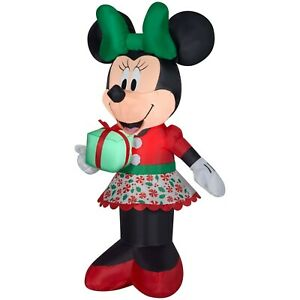 Minnie Mouse 5ft Yard Inflatable Light Up Christmas Blow Up Decor Holiday Lawn
