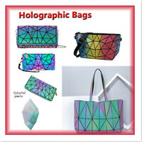 Hot Geometric Backpack Holographi Backpacks Reflective Bag Luminesk Irredescent