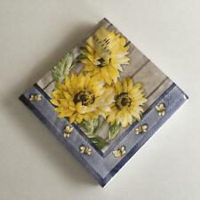 PAPER  NAPKINS / SERVIETTES PACK OF 20 COCKTAIL SIZE 3 PLY SUNFLOWER