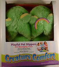 Creature Comfort Youth Massaging Frog Slippers Sz 3-5 Playful Pet Slip On Plush