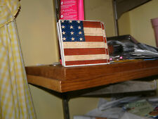 Set Of 4 American Flag Coasters-Perfect Way To Celebrate Or Showcase Your Patrio