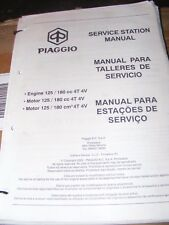 PIAGGIO ENGINE 125 / 180cc SERVICE STATION MANUAL  (GOOD CONDITION FOR ITS AGE)