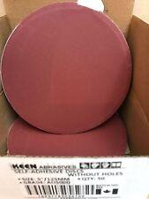 """Box of 50- 500 Grit 5"""" Sticky Tabbed WET DRY SANDPAPER KEEN ABRASIVES #36109"""