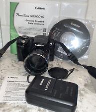Canon Powershot SX500 IS Black Digital Camera 16.0MP - 30x Optical Zoom