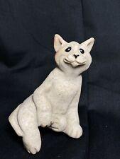 Cat Figurine Quarry Critters Stone Sculpture Second Nature COCO 2001