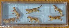 Preiser N #79714 Animals -- Tigers (Painted Plastic figures)
