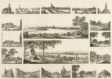 DRESDEN - Erinnerungsblatt - Carl August Richter - Radierung 1834