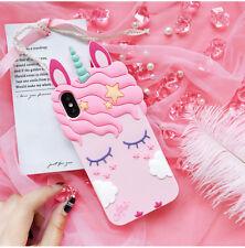 3D Rainbow Unicorn Soft Silicone Phone Case Skin for iPhone 6 6S 7 X 8 Plus CN