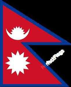 NEPAL FLAG - NEPALESE NATIONAL FLAGS - Hand, 3x2, 5x3 Feet