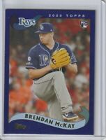 2020 TOPPS ARCHIVES Brendan McKay RC Tampa Bay Rays PURPLE SERIAL #033/175