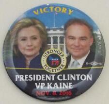 Officiel Hillary Clinton Tim Kaine Victoire Plus Fort Ensemble 2016 Bouton