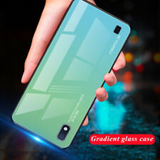 For Samsung Galaxy A10 A50 A20 A30 Gradient Glass Hybrid Hard Back Case Cover
