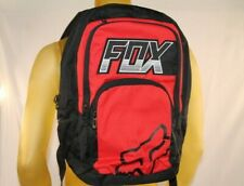 FOX RACING RED/BLACK LAPTOP/TRAVEL/BOOK/BEACH BACKPACK W/FOX HEAD LOGO