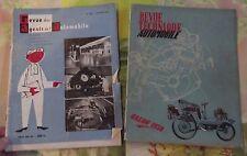 Ancienne lot Revue en État Épave des Agents & Technique Automobile 1954 & 1956