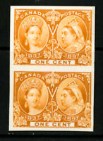 Canada Stamps # 51 NH Card Board Proof Pair Super