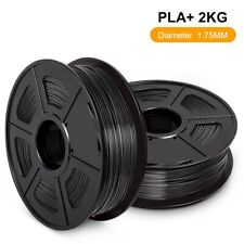 PLA+ 3D-Druckerfilament 1,75 mm 1 kg / 2,2LB Schwarz Zähigkeit Material 2Rollen