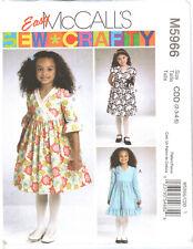 Easy McCalls M5966 Girls Dresses Pattern Sizes 2 3 4 5 UNCUT Ships FREE