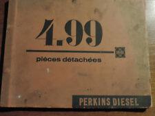 CATALOGUE  PIECES  DETACHEES MOTEURS  PERKINS DIESEL  4 .99