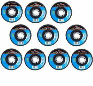 "(10) 4 1/2"" 80 Grit Flap Sanding Grinding Discs 4.5"" 7/8"" Angle Grinder Wheels"