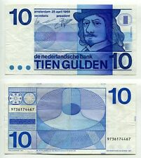 10 Gulden Niederlande 25.4.1968  Erhaltung II-/III+, Pick 91b