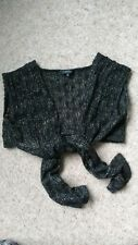 BLACK & GOLD LACY LADIES KNITTED  SHRUG SIZE 12