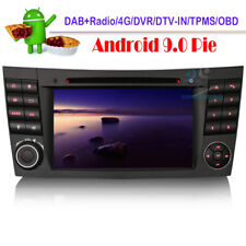 Android 9 DAB+Radio GPS Sat Nav CD USB Stereo For Mercedes E-Class W211 CLS W219