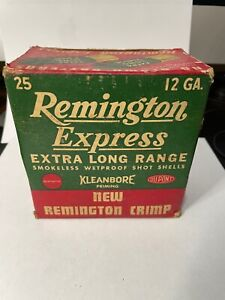 ORIGINAL VINTAGE REMINGTON 12 GA.EXTRA LONG RANGE TRAP LOADS EMPTY AMMO BOX