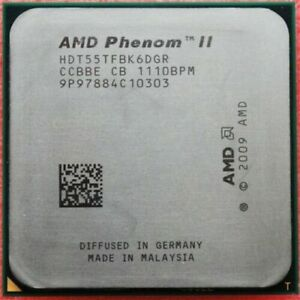 AMD Phenom II X6 1055T Six Core 2.8GHz 9MB Socket AM3 125W CPU Processor