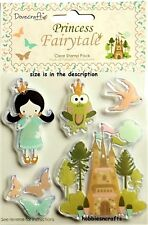 DOVECRAFT CLEAR STAMPS - DCCS001 - FAIRYTALE PRINCESS & THE FROG - 5 STAMPS