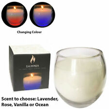 Candle LED Candles Colour Changing Glass Jar Glow Flicker Candlelight Shimmer
