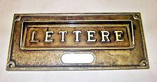 Feritoia postale in ottone brunito Alubox A6 OB EAN 8011639009434