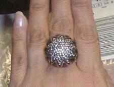 UNIQUE! Stella & Dot STARSTRUCK Sunflower Look Hematite Dome Ring! Sz 6 - 7