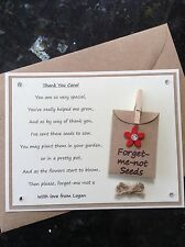 Personalised Thank You Poem Gift Magnet. Pre-school/Nursery/Teacher/Assistant R