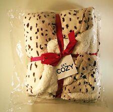 Snow Leopard Plush Fleece Throw Blanket