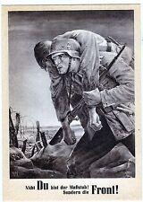 cartolina propagandistica tedesca II guerra con bollo e annullo governatorato