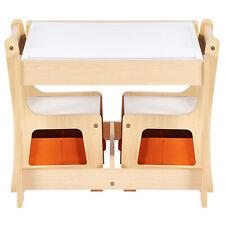 3TLG. Kindersitzgruppe Kindertisch mit 2 Stühlen Kindermöbel Maltisch Sitzgruppe