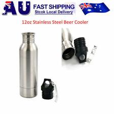 Beer Cooler Keeper Insulator Bottle Stainless Steel Opener Holder Silver
