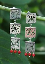 Silver Earrings Papel Picado Mexican Party Banners Skulls flowers & butterflies